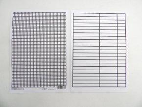 Podložka A4 Papír linka+čtvereček